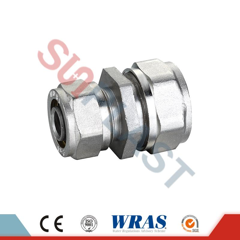 Brass Compression Reducing Coupling Para sa PEX-AL-PEX Multilayer Pipe